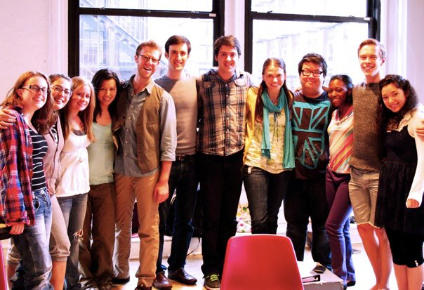 First day of class with Sutton Foster and Deb Abramson at NYU. (2010)