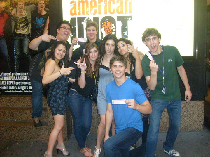 With my Tisch Summer High School students after seeing American Idiot on Broadway. (2010)