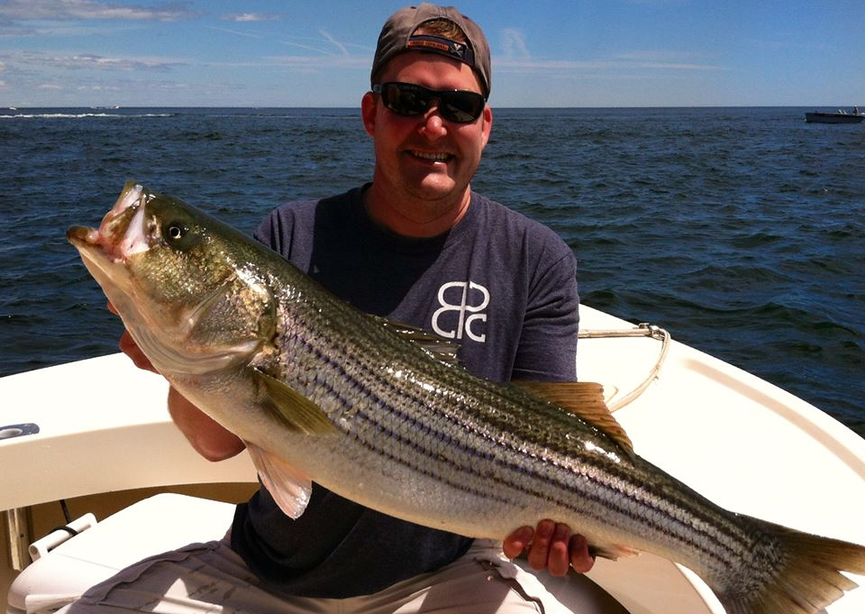 Nick here with a nice 40 inch Striper caught on Manolin Charters in the Merrimack River