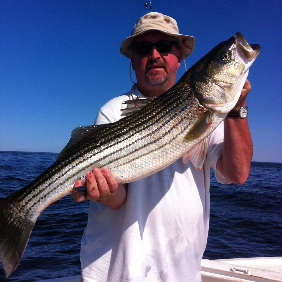 Sweet picture of a nice striper for Kevin!