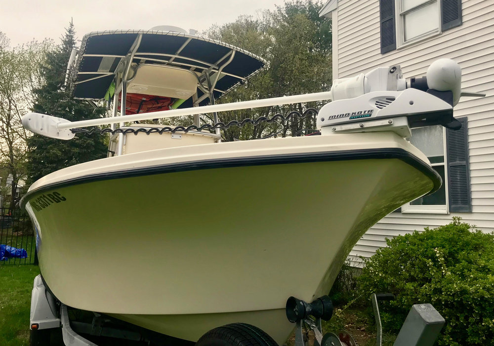 The Minn Kota Ulterra Trolling Motor is going to be a Deadly Addition to Manolin! The stripers, mackerel, and sharks don't stand a chance now!