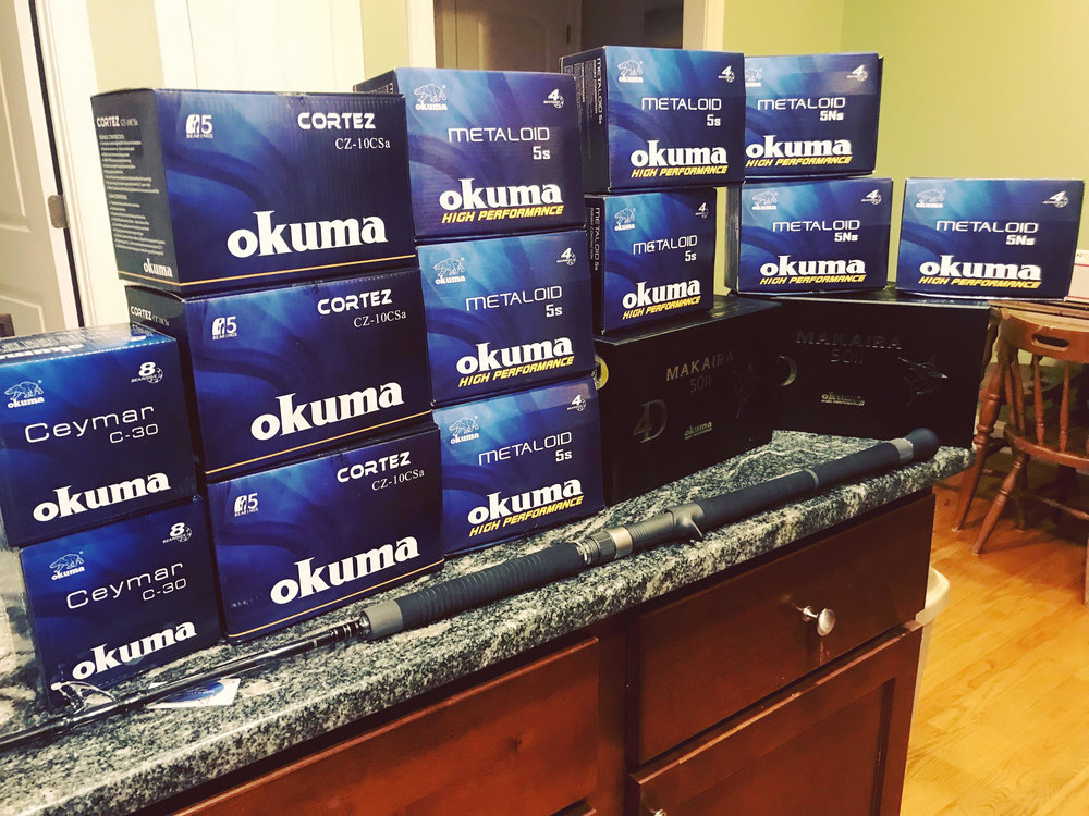Big order came in from Okuma! Highest quality gear for the clients of Manolin Charters!