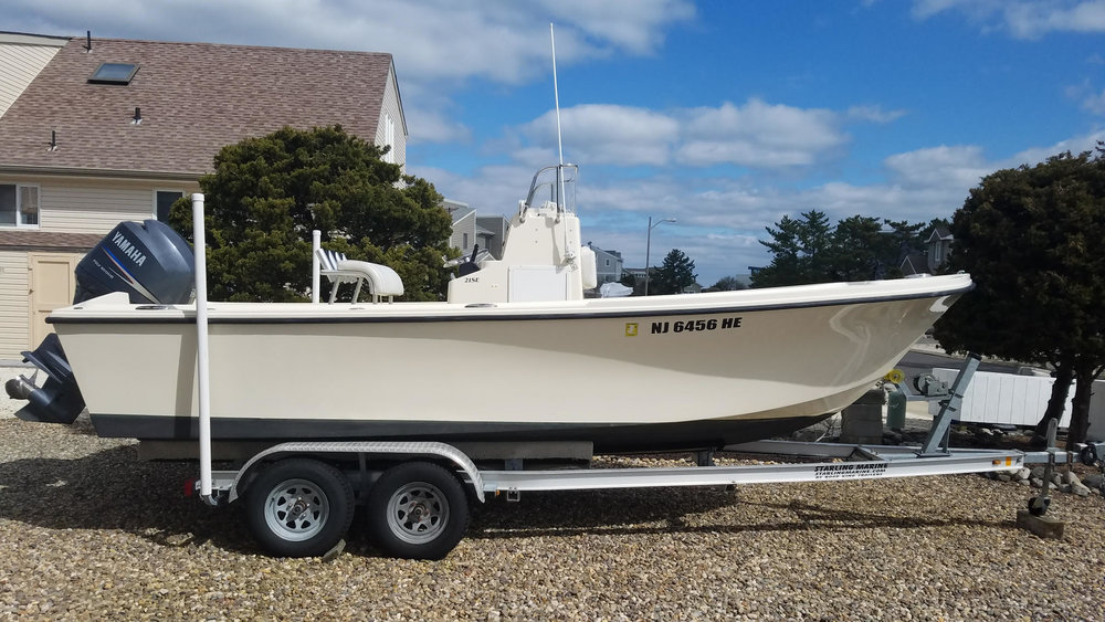 "Until Capt. Mike figures out a new name for his boat...I'm referring to it as ""Mini Manolin!"". It is a 21 ft Parker with special features to allow for plenty of casting room for fly fisherman!"