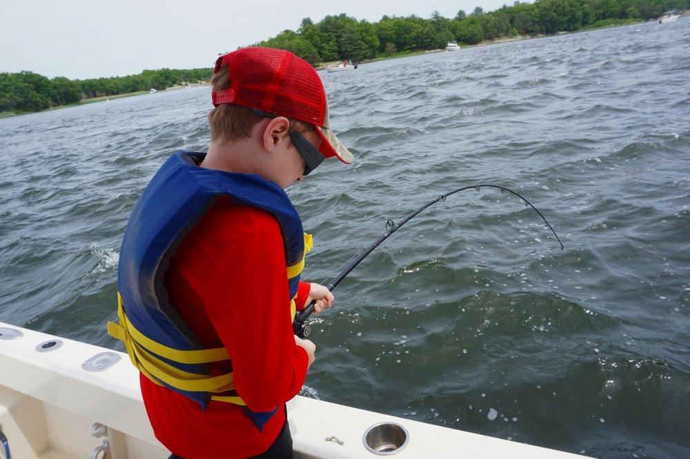 kids striper fishing