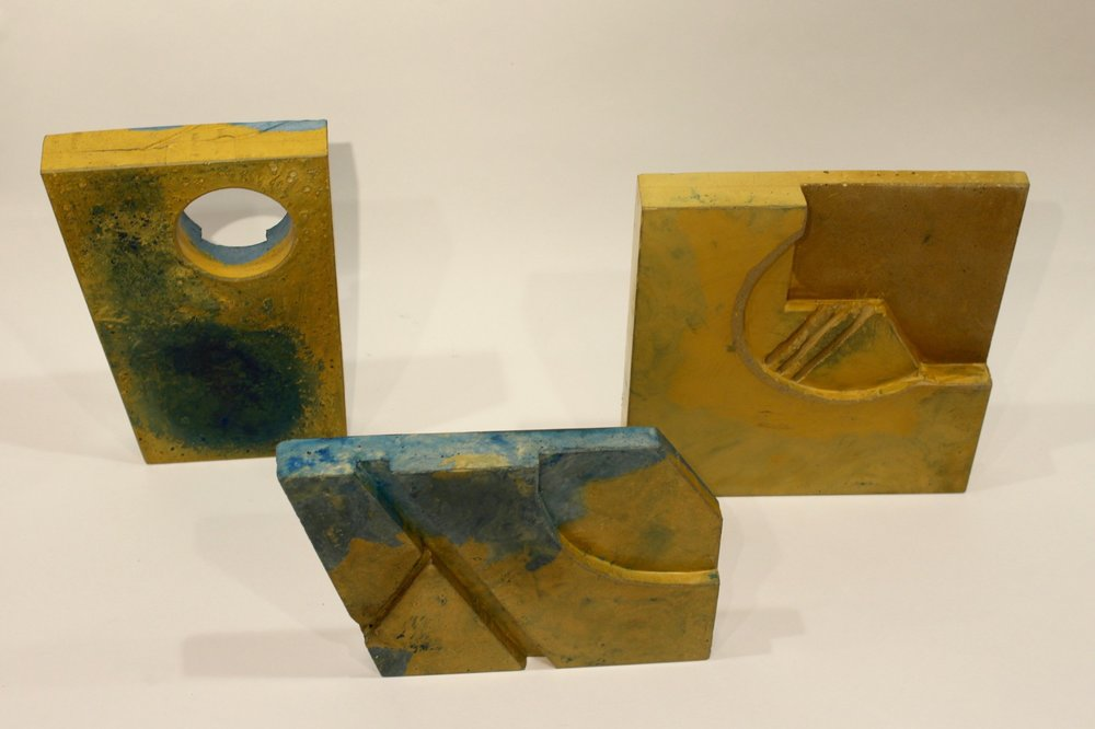 Small new works in exploring shape, depth, colour and texture.