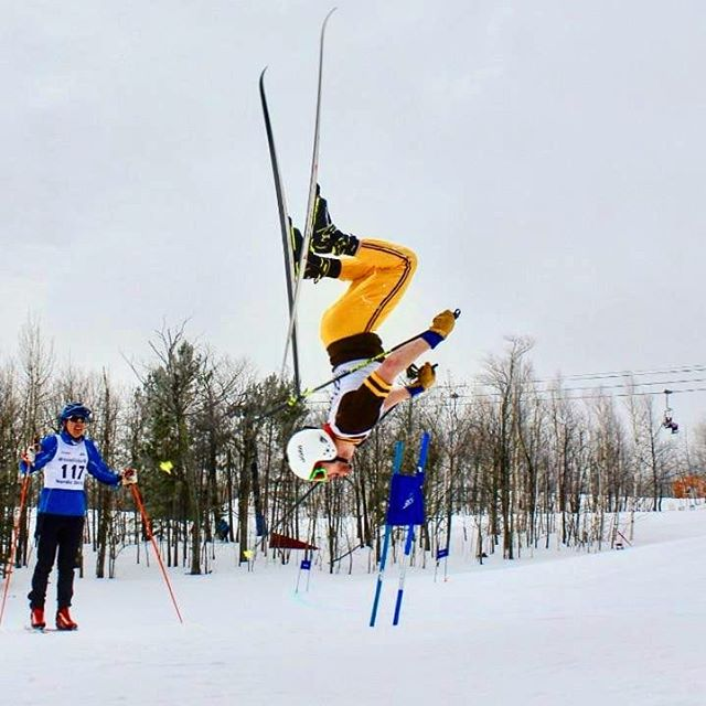 If you can't go fast, go big #imadownhiller #howdoyourideskinnyskis #sentitsaturday #jerryoftheday