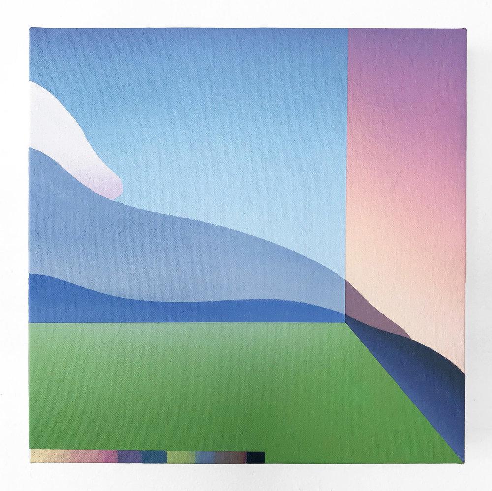 """Window 3""  Acrylic on Canvas. 12 x 12 Inches. 2018. $400"