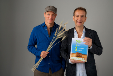 Jeff Golfman (right), president, CEO and co-founder of Prairie Paper Ventures Inc., with actor, long-time environmentalist and company co-founder Woody Harrelson (left). Prairie Paper Ventures Inc. operates as Prairie Paper. Photo credit: Rawtographer