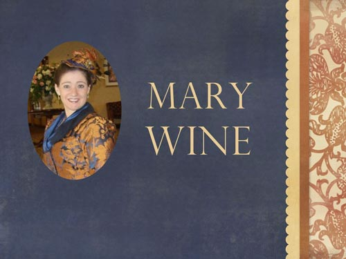 "Mary Wine, author of ""My Fair Highlander"", was the first model."