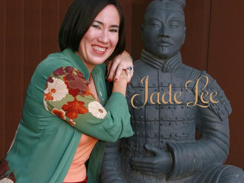 "Jade Lee, author of ""Wicked Seduction"", filled the room with her bright smile."