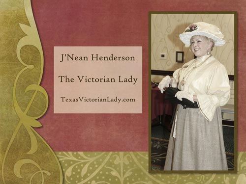 She was assisted by The Victorian Lady. J'Nean also provided most of the costumes and accessories in the Fashion Show.