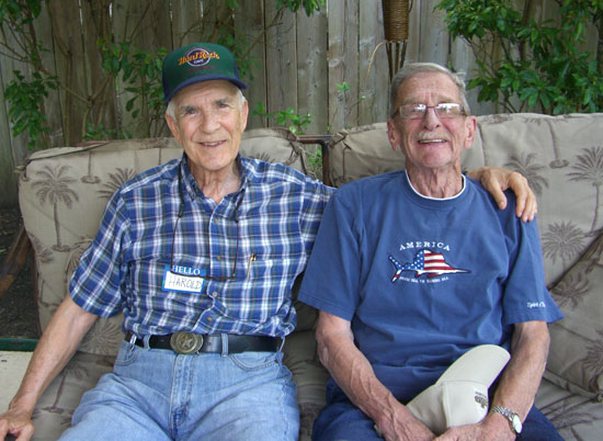 This is my dad (left) and Greg's dad (right). They (we) used to be neighbors. Yep. I married the boy next door. :)