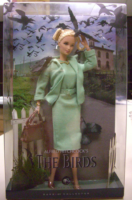 This boxed, mint-condition Barbie was from Alfred Hitchcock's movie, The Birds. Now, check out the next photo ...