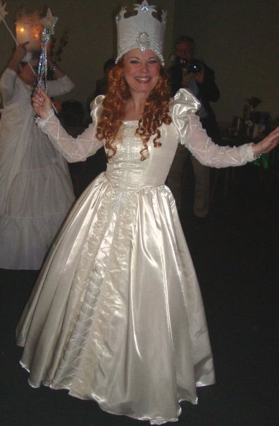 Here I am as Glinda the Good Witch of the North.