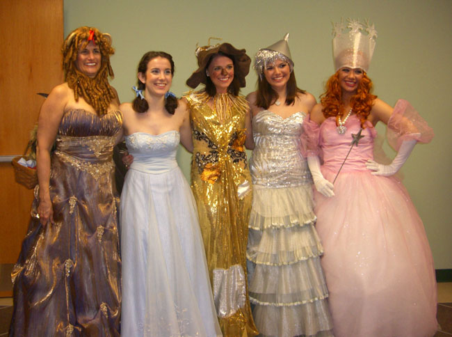 The Pulpwood Queens from Kansas each dressed like a character from the book, but they did it in formal dresses. I just loved how creative they all were!