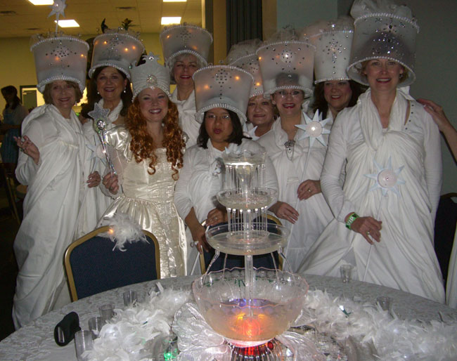 The Pulpwood Queen Book Club from Tyler, Texas dressed up as Glinda also! Aren't they gorgeous!