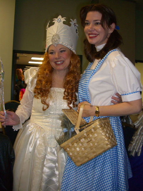 Author Karen Harrington (Janeology) dressed as Dorothy.