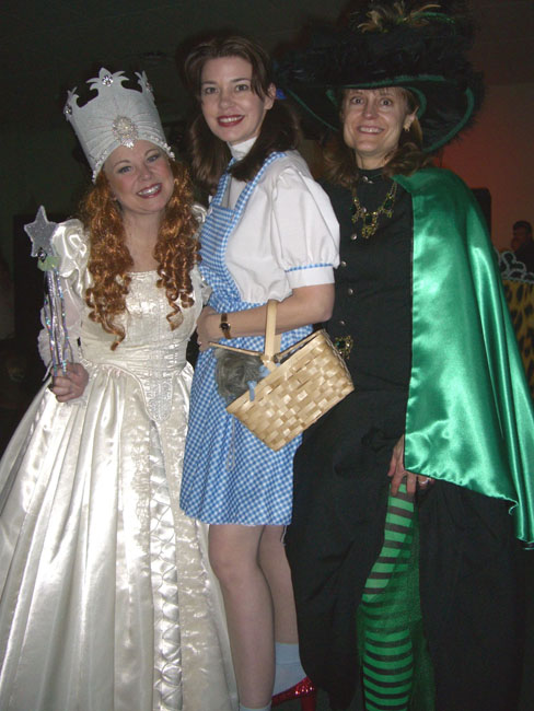Here we are--Glinda (me), Dorothy (author Karen Harrington) and the Witch (reader Vicki Lee)!