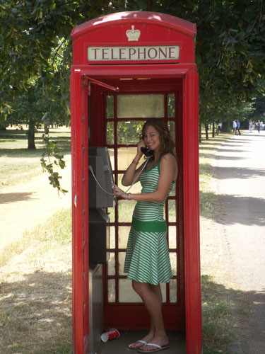They discover this funny thing called a telephone booth! ;-)