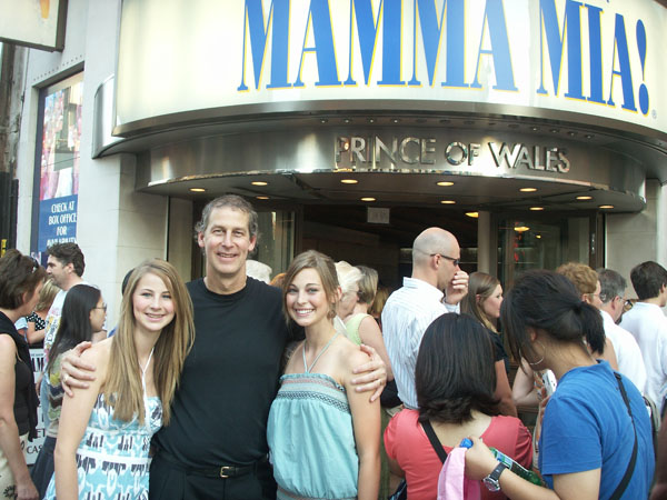 Greg took the girls to see Mamma Mia! They *loved* it and play the soundtrack all the time.