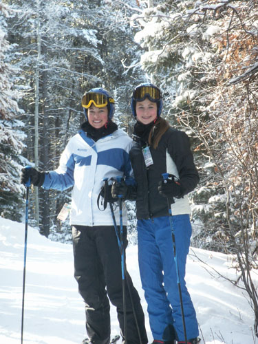 The girls on the slopes. The one on the left is our 19 year old, the one on the right, our 17 year old.