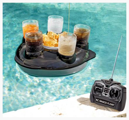 A remote controlled floating drink and snack holder! I actually like this idea, but since he has a November birthday, he wouldn't be able to use it until summer. :( Still, you know how guys are with remote controls. So I'm seriously considering it. Your thoughts?