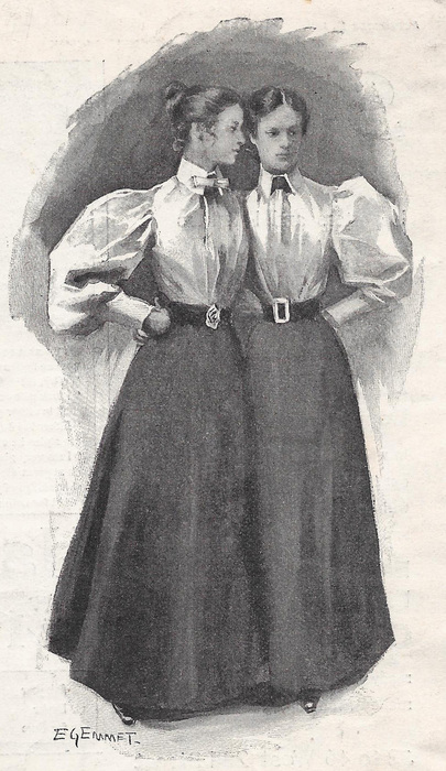 Practical a-line skirts to pair with the practical shirtwaist blouse