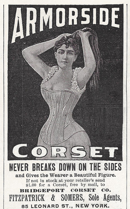 Newspaper ad for women's corsets