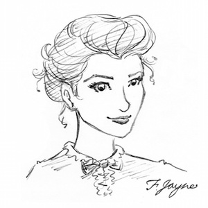 Flossie Jayne drawn by artist  Monica Bruenjes  who rendered artwork on Flossie's behalf for  Tiffany Girl  and signed it as such.