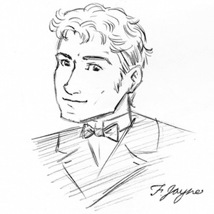 Reeve Wilder drawn by Flossie (aka artist Monica Bruenjes).