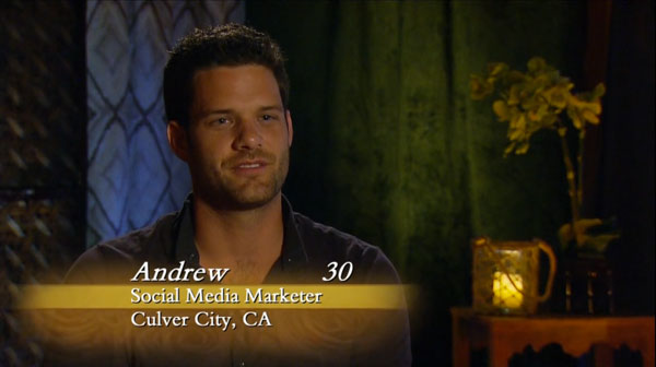 The producers' love affair with Andrew continues.