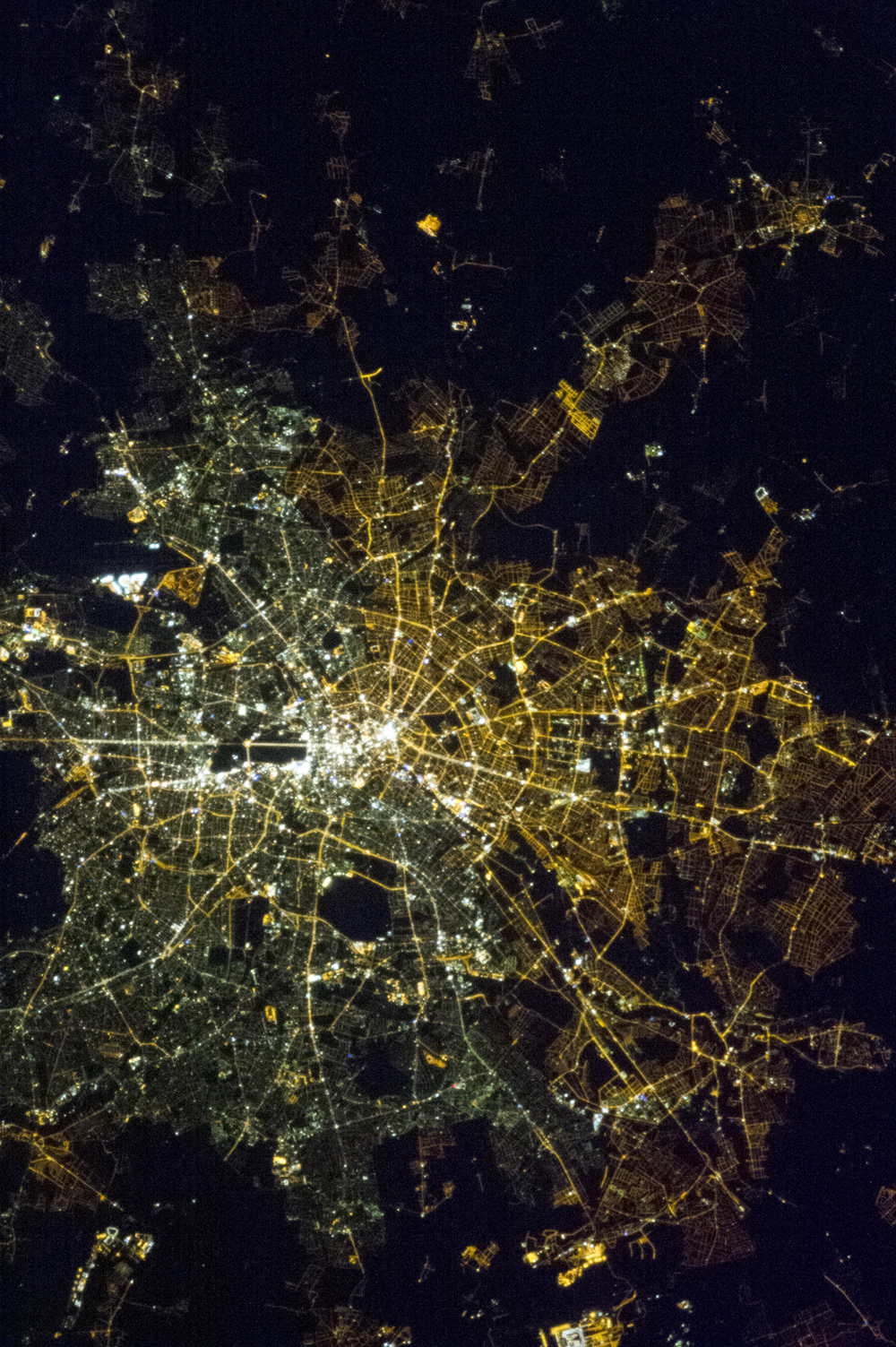 Berlin from space. Courtesy of Chris Hadfield/NASA. Used with permission.