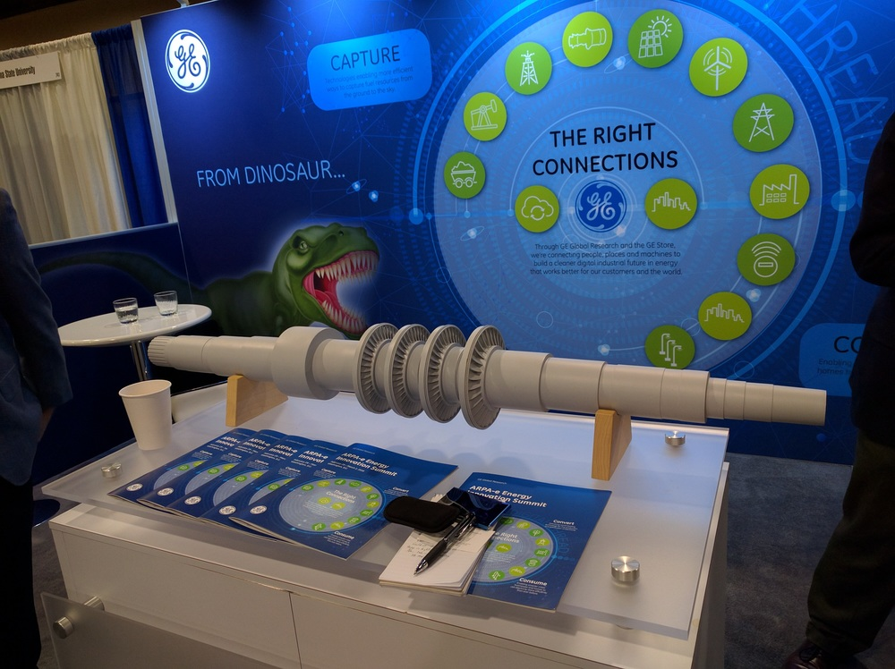 General Electric's full-scale supercritical CO2 turbine on display at the ARPA-E summit
