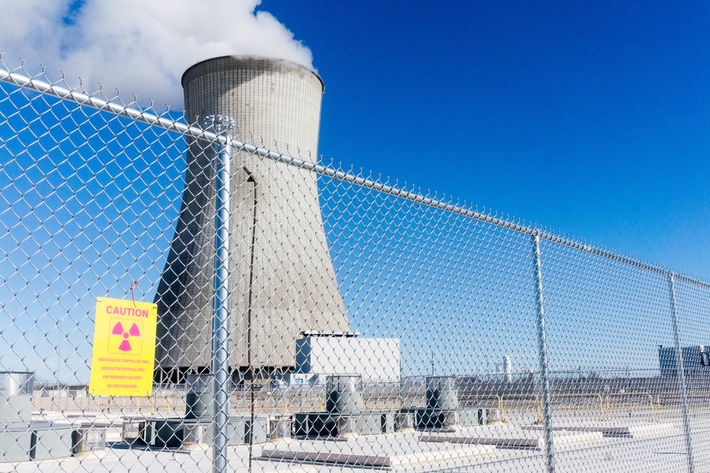 A cooling tower at the Callaway Nuclear Power Plant in Missouri