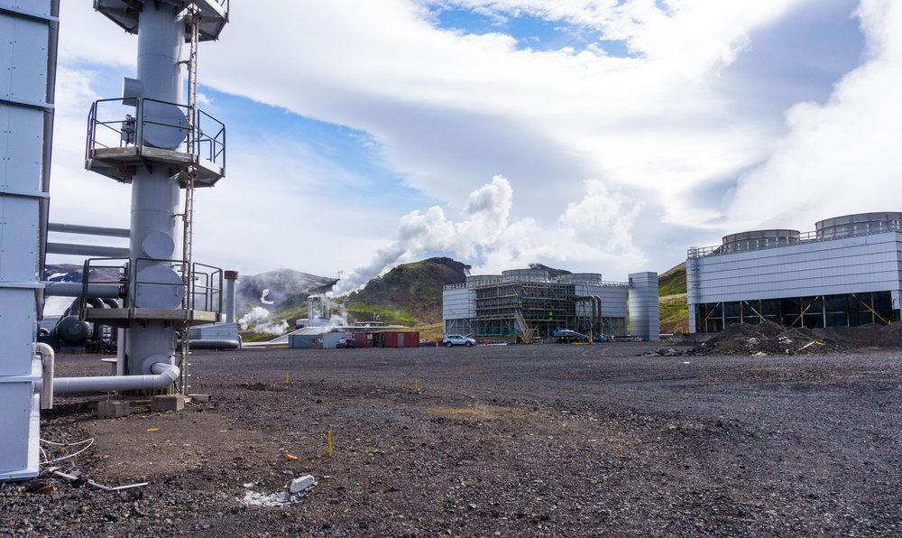 Hellisheiði Power Station outside of Reykjavik, Iceland