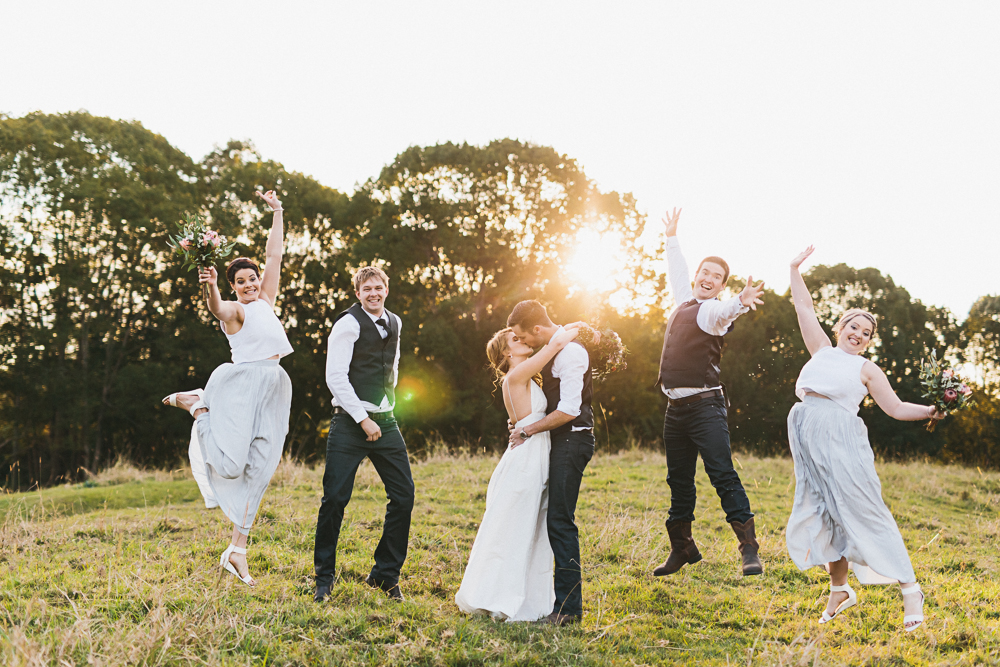 Sunshine Coast Wedding Photographer Roy Byrne. Obi Obi Country Wedding. Bridal Party Portraits.
