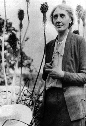"Virginia Woolf, at her home in Rodmell, 1931.  ""As a woman I have no country. As a woman I want no country. As a woman, my country is the whole world."""