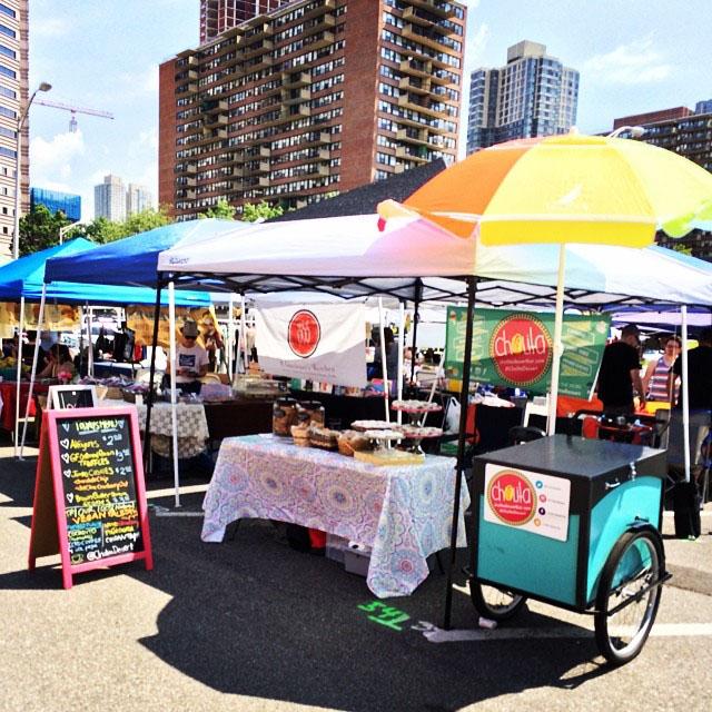 Cholita Dessert Bar setup at the   6th Borough Market  .