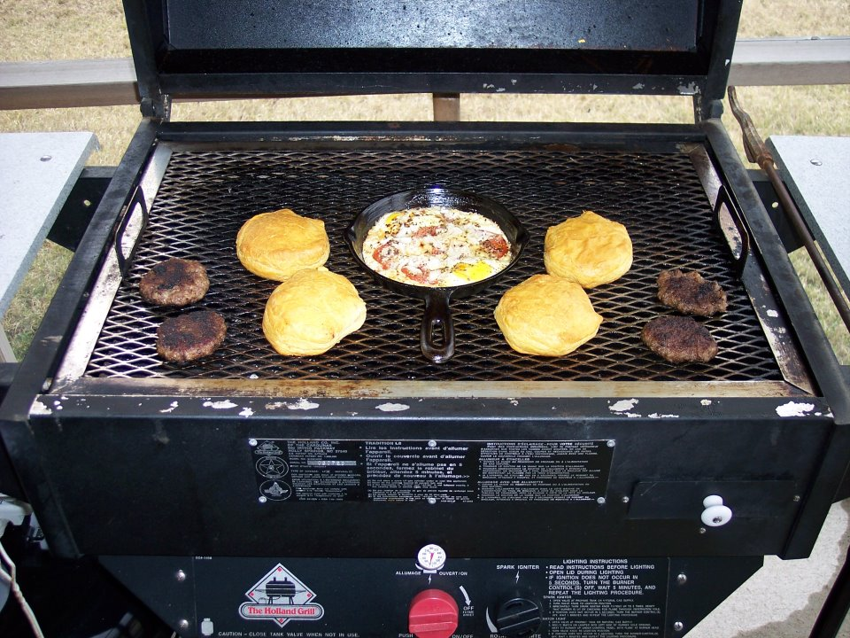 You can grill an entire breakfast on your Holland grill--Simple and Delicious!