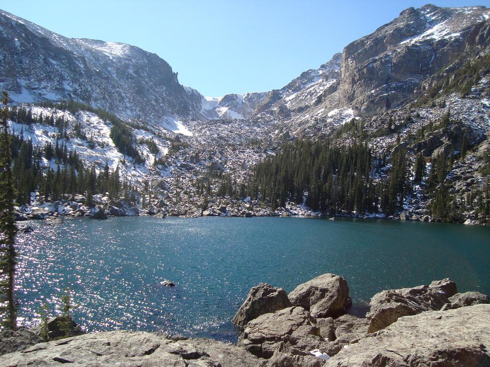 Lake Haiyaha in Chaos Canyon.