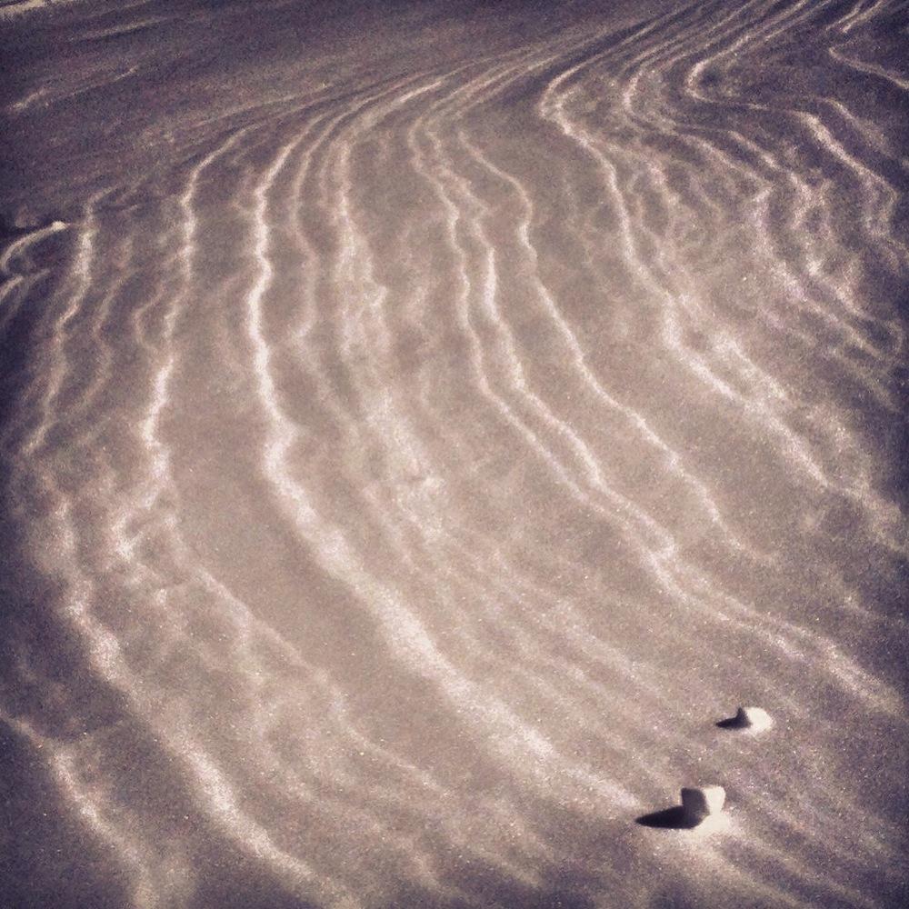 Snow drift.
