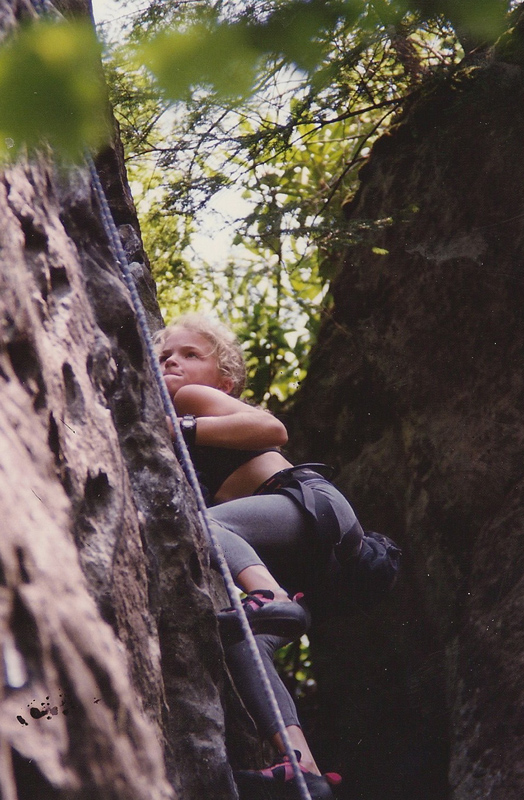 Climbing at the Red River Gorge.