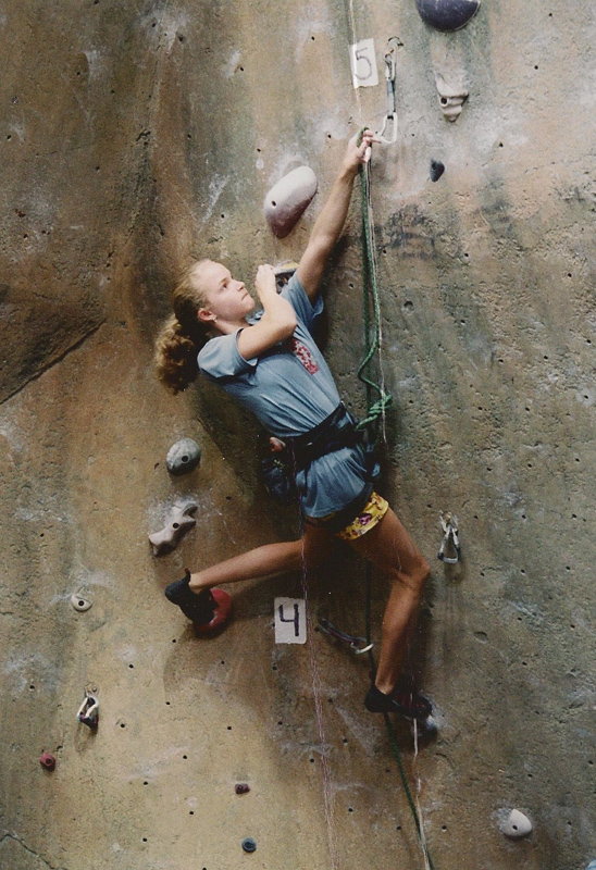 Climbing in JCCA Nationals.
