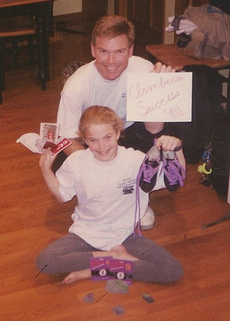 Me and my dad after my first competition.
