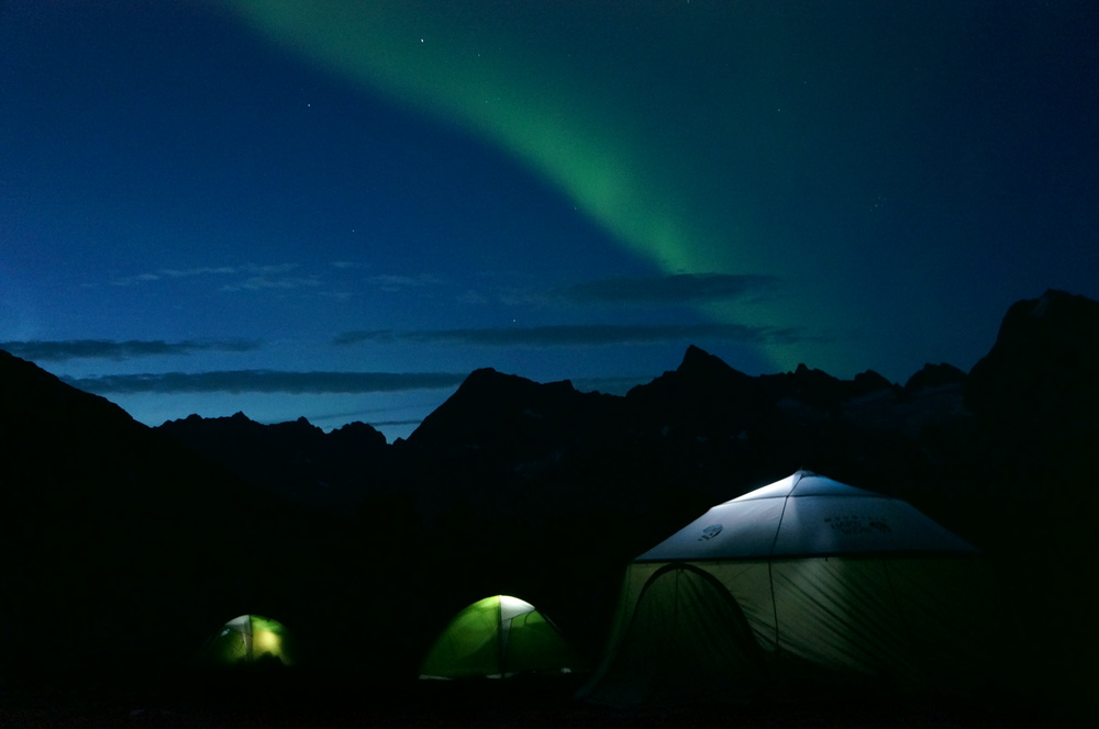 The Northern Lights over camp