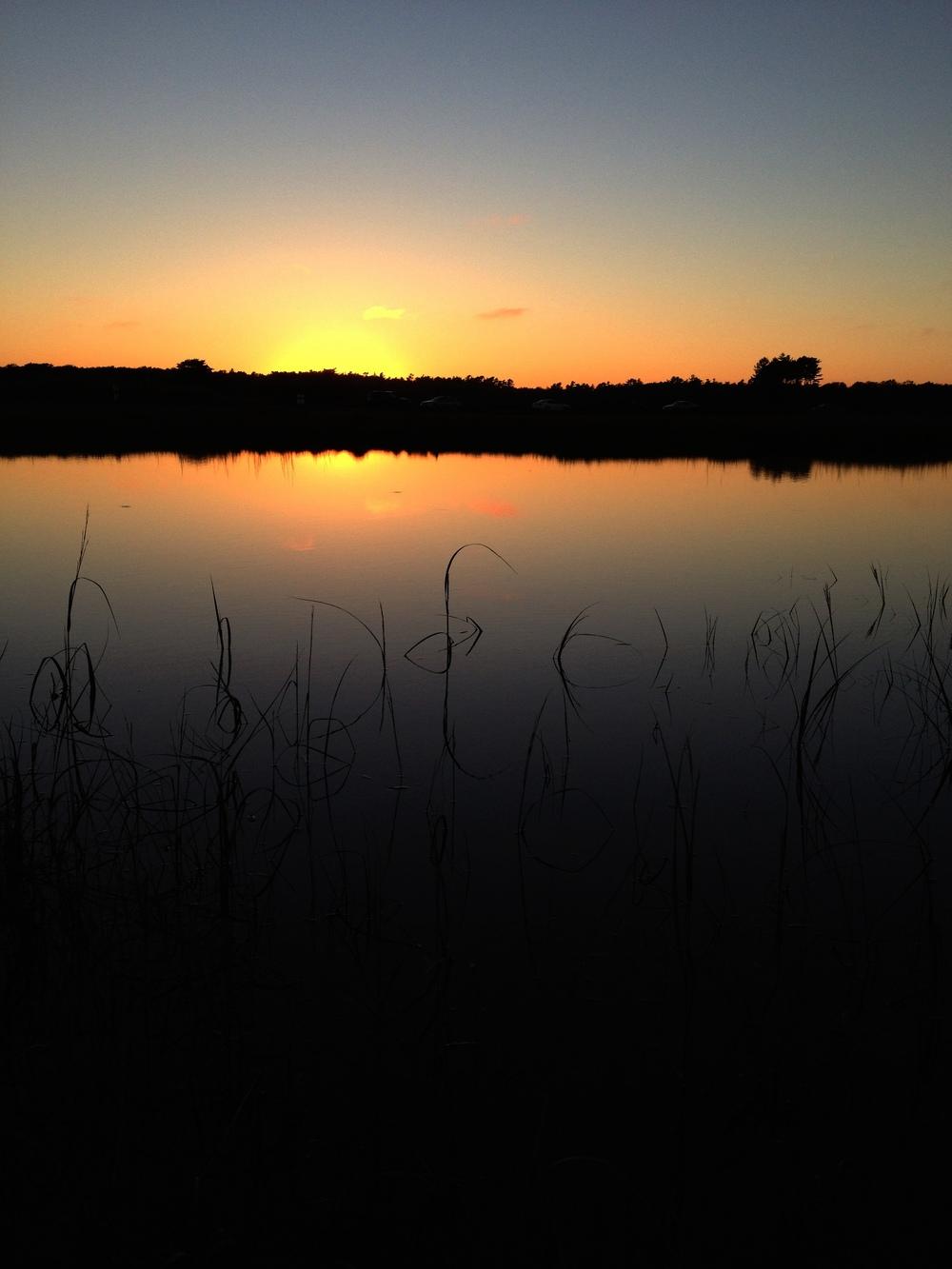 Sunset in Maine.