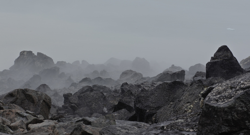 Fog in the talus.