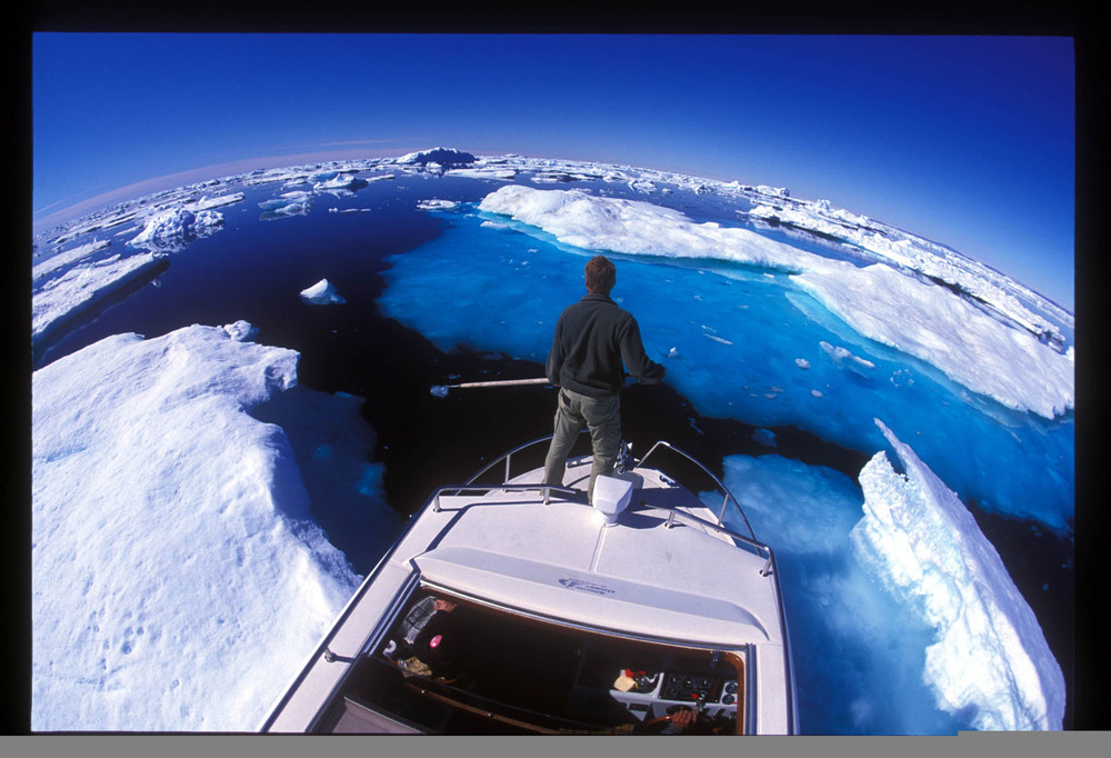 Mike Libecki navigating the icy waters in Greenland (Libecki photo)