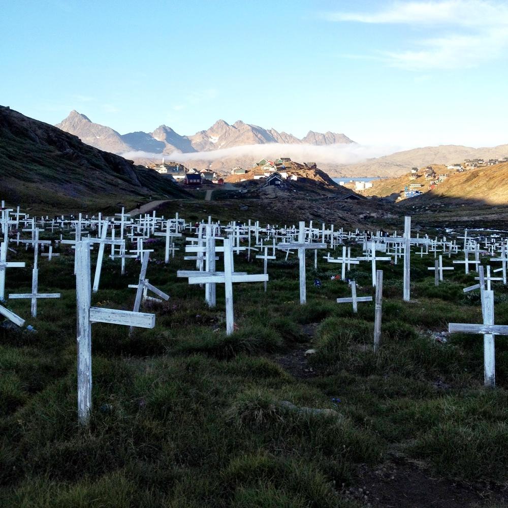 Cemetery in Tasiilaq, Greenland