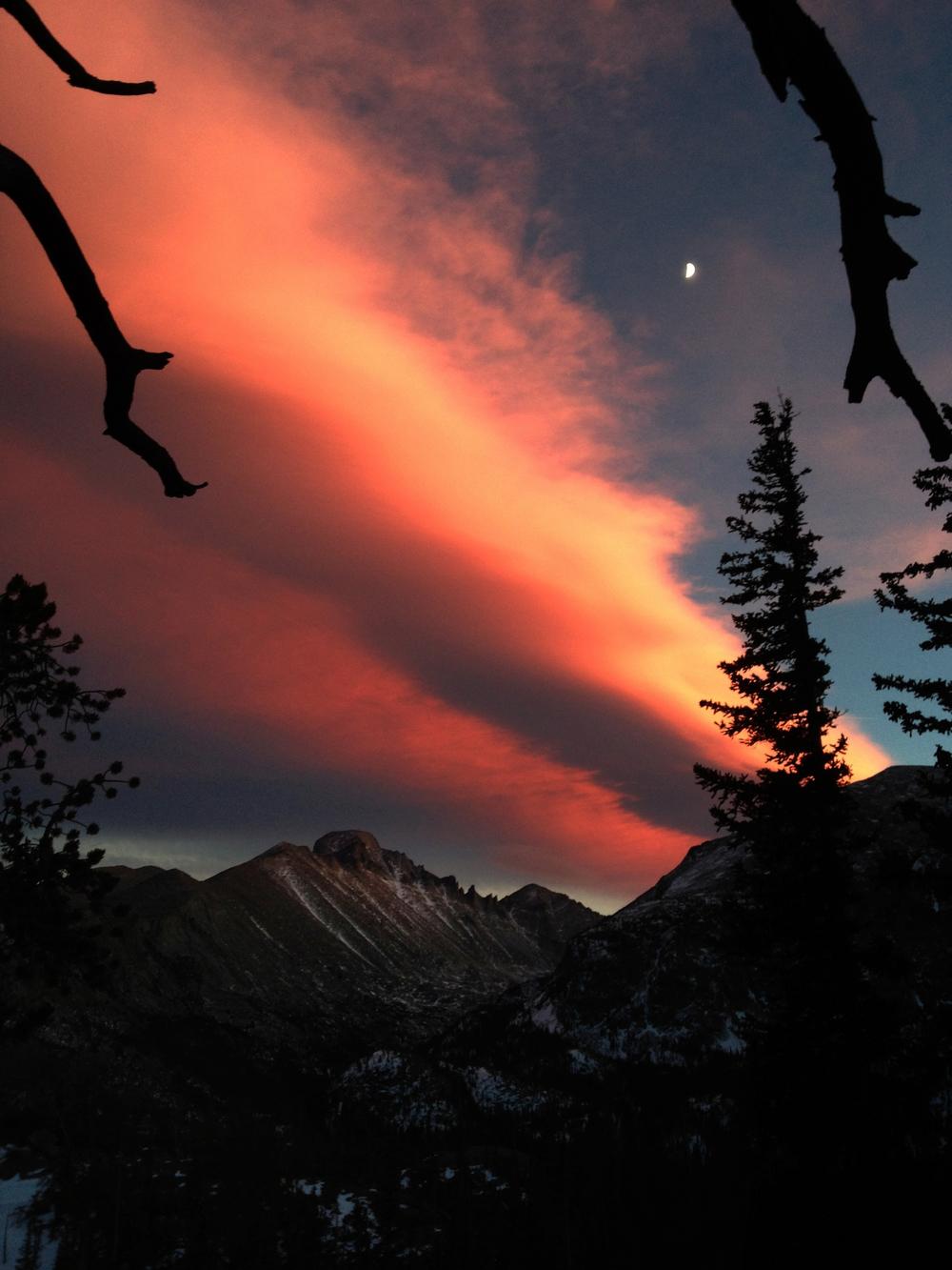 Long's Peak at sunset.